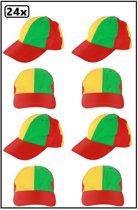 24x Pet rood/geel/groen verstelbaar