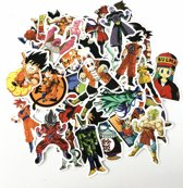 Dragon ball Z sticker mix - 50x Anime sticker - voor laptop, skateboard, muur, koffer etc. Waterproof - Kleurvast