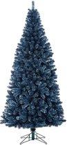 Black Box kunstkerstboom sitka maat in cm: 230 x 107 donkerblauw