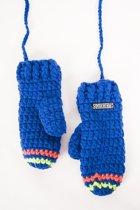 Poederbaas wanten gehaakt  One Size - blauw/groen/oranje, kleurrijke handschoenen, fashion wanten