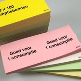 Benza Consumptiebonnen Roze (3000 stuks)