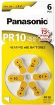 Panasonic PR 10 hoorapparaat cellen Zinc Air 6 stuks