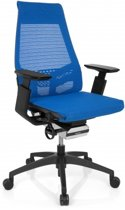 hjh office Genidia Smart Black - Bureaustoel -  Netstof - Blauw