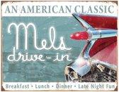 Metalen Retro Bord Mel's Diner Classic