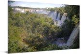 Iguazu-waterval de langste waterval ter wereld in Brazilië Aluminium 180x120 cm - Foto print op Aluminium (metaal wanddecoratie) XXL / Groot formaat!
