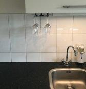 EPIN 3D Glazenrek Keuken / Bovenkast / Wijnrek / Grijs