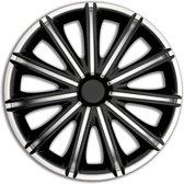 4-Delige Wieldoppenset Nero 16-inch Zilver/zwart