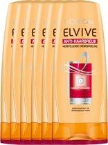 L'Oréal Paris Elvive Anti-Haarbreuk Crèmespoeling - 6 x 200 ml - Voordeelverpakking