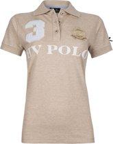 HV Polo Favouritas Eques KM - Polo Shirt - Sand Melange - S