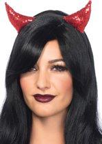Leg Avenue A1535 Haarband met pailletten duivel oortjes