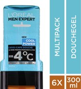 L'Oréal Men Expert Cool Power Douchegel -6x300ml- Voordeelverpakking