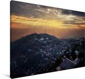 Zonnestralen schijnen over Lahore Canvas 140x90 cm - Foto print op Canvas schilderij (Wanddecoratie woonkamer / slaapkamer)