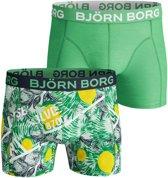 Björn Borg La Lemon Cotton Stretch Honeydew 2-pack - Maat: XXL