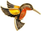 Fako Bijoux® - Broche - Vogel - IJsvogel - 51x37mm
