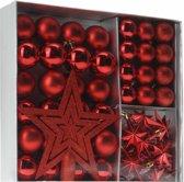 Home & Styling Kerstballen Set Rood 45-dlgHome & Styling