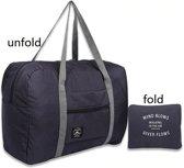 Opvouwbare reis tas duffel | Travel bag | Grote reis organizer | Donkerblauw