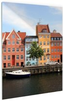FotoCadeau.nl - Christianshavn Kopenhagen Glas 40x60 cm - Foto print op Glas (Plexiglas wanddecoratie)