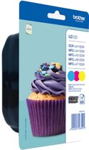 Brother LC-123 - Inktcartridge / Geel / Magenta / Cyaan
