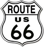 Signs-USA Route 66 Shield - Retro Wandbord - Metaal - 28x28 cm