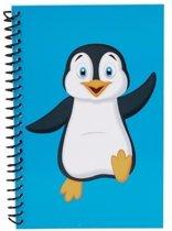 Pinguin schriftje blauw 18cm