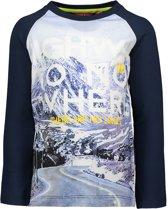 TYGO & vito Jongens Fotoprint T-shirt met raglan mouw - donker blauw - Maat 98/104