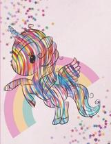 My rainbow unicorn notebook