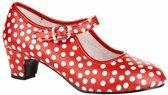 MixMamas Spaanse Flamencoschoen Stippen - Maat 40 - Binnenzool 26 cm - Rood/Wit