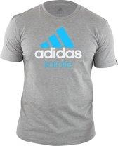 adidas Community T-Shirt Grijs/Blauw Karate Extra Large