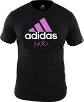 adidas Community T-Shirt Zwart/Roze Judo Medium