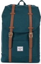 Herschel Supply Co. Retreat Mid-Volume Rugzak - Deep Teal / Tan Synthetic Leather
