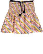 NONO Meisjes Rok Noosa met diagonale strepen - Geel - Maat 122/128
