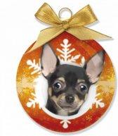 Kerst honden kerstbal Chihuahua 8 cm