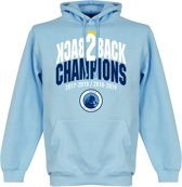 City Back to Back Champions Hoodie - Lichtblauw - M