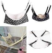 Dieren Hangmat - Hangende Mat Deken Speeltje Voor Fret \/ Konijn \/ Cavia \/ Hamster \/ Rat \/ Chinchilla - Katten Kooi Hangmat