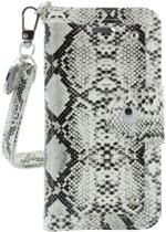 iPhone 5/5s Wallet Case Snake - Silver