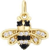 I.Ma.Gi.N. Jewels 925 Sterling Zilveren Goudkleurige Charm Bee Hanger  - Goud