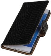 Wicked Narwal | Snake bookstyle / book case/ wallet case Hoes voor sony Xperia Z4 Z3+ Zwart