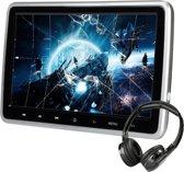 10.1 Inch HD Hoofdsteun gaming DVD-speler met HDMI, USB en SD aansluiting inclusief koptelefoon en 220V lader