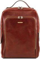 Tuscany Leather Bangkok leren laptop rugzak Bruin TL141793