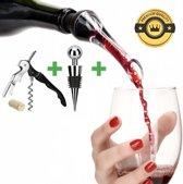 GoûtSucré Wijn Beluchter Deluxe - Inclusief wijnstopper en Kurkentrekker
