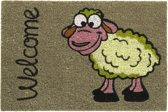 Kokosmat met print / Welcome sheep 406 / 40 cm x 60 cm /