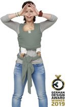 Stretchy Wrap de Luxe Minty grey - Large