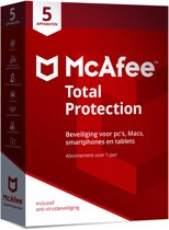 McAfee Total Protection 2018 - 5 Apparaten - Nederlands - Windows / Mac / iOS / Android