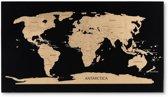 Deluxe World Scratch Map | Luxe Zwarte Wereld Kraskaart | Kraskaart Scratchmap |Wereldkaart Kras Poster Groot 80 x 45 cm | Gadgetartikel | Cadeauartikel