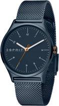 Esprit ES1L034M0105 Essential Horloge - Staal - Blauw - Ø 34 mm