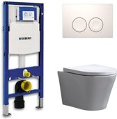 Geberit Toiletset Saturna Rimfree Softclose Toilet Bril Delta 21 Wit