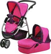 Luxe 2 in 1 poppenwagen roze