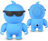 NIKKEI NIKKIEBE Portable mini bluetooth speaker en Aux-in - Blauw
