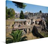 De ruïnes van Pompeï in Italië Canvas 120x80 cm - Foto print op Canvas schilderij (Wanddecoratie woonkamer / slaapkamer)