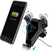 Universele Telefoonhouder voor in de Auto - 10 Watt Fastcharger Qi - Wireless Telefoon Oplader - o.a. voor iPhone / Samsung / Huawei / Nokia / Microsoft / Sony / Google Nexus / LG - Douxe